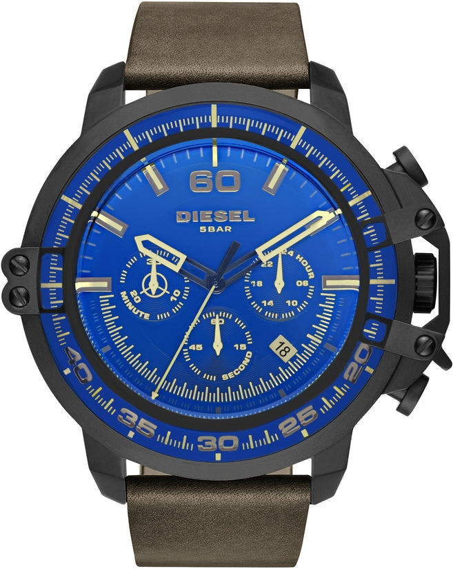 Deadeye Chronograph Blue Dial Brown Leather