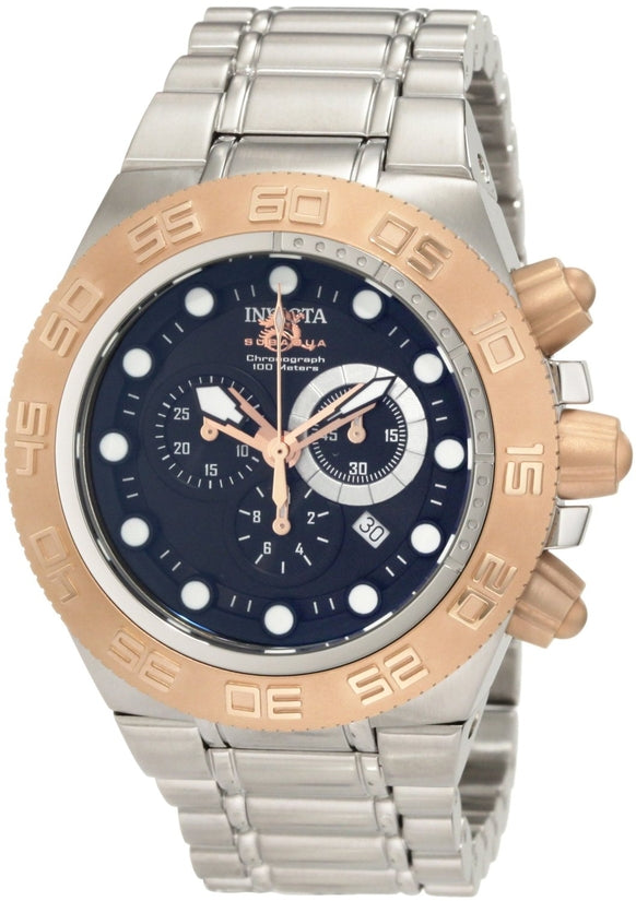 Subaqua Men's Stainless Steel Black Dial