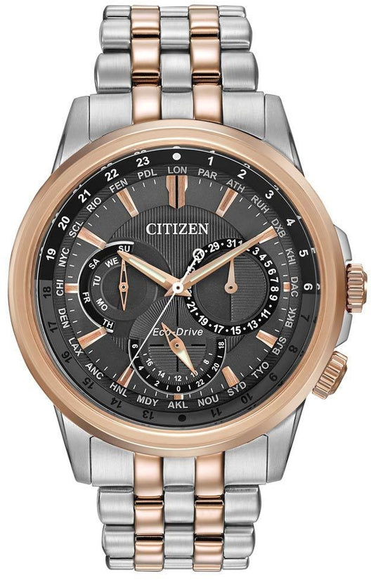 World Chronograph A-T Rose Gold & Silver Tone