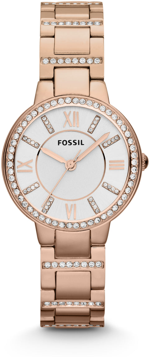 Virginia Rose Gold Tone Crystal Accented