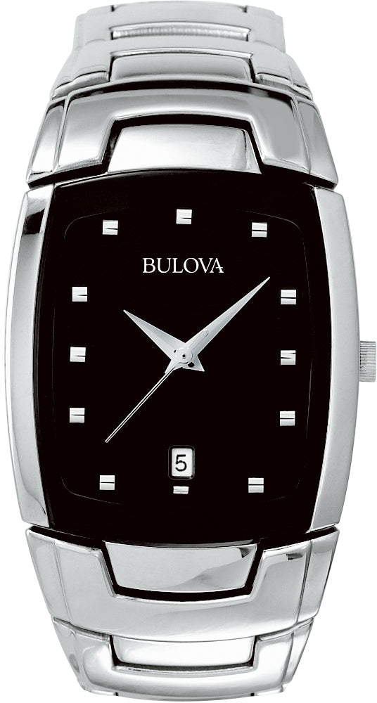 Analog Black Dial Stainless Steel Men's Watch 96G46