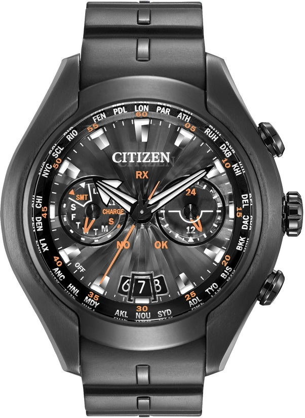 CC1076-02E Satellite Wave-Air Black Dial Rubber Strap Men's Watch