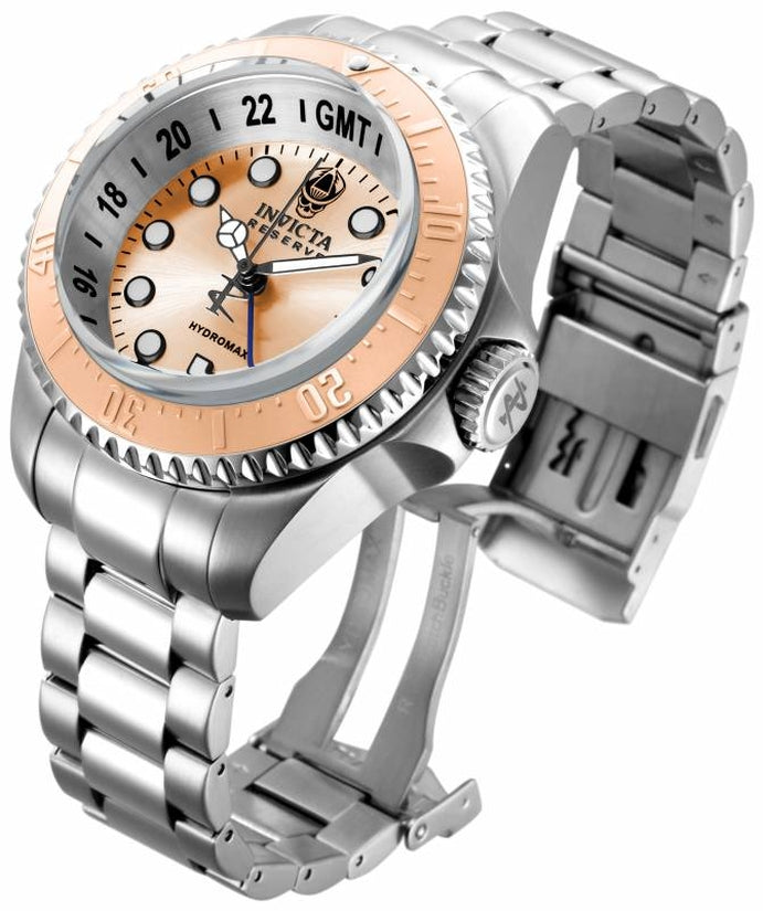 Hydromax Men's Stainless Steel Rose Gold Dial