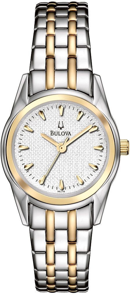 Dress Analog Silver Dial Two-Tone Stainless Steel Women's Watch 98L138