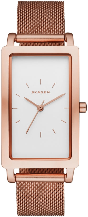 Hagen Rectangular Rose Gold Tone Mesh