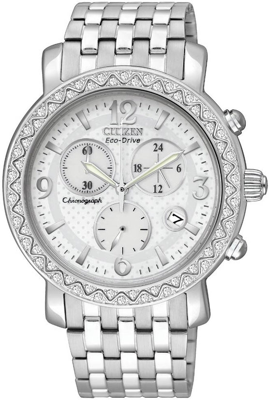TTG Chronograph White Dial Stainless Steel Women's Watch FB1290-58A