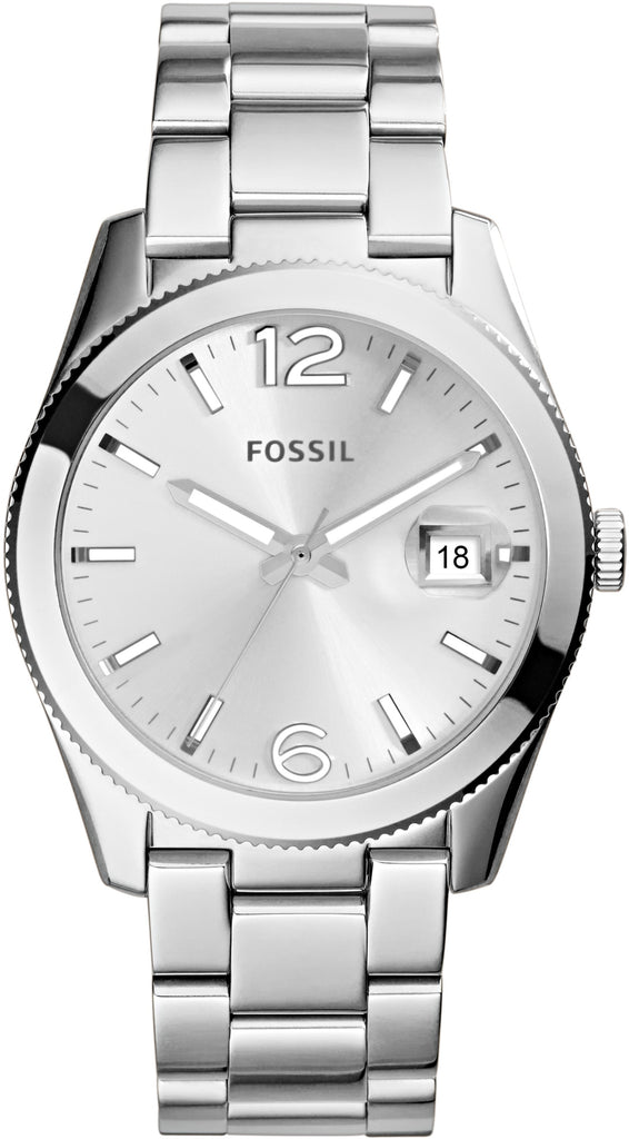 ES3585 Perfect Boyfriend Silver Dial Stainless Steel Strap Women's Watch