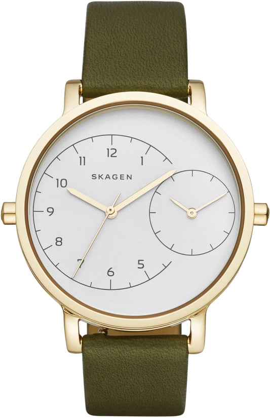 Hagen Dual Time Brown Leather