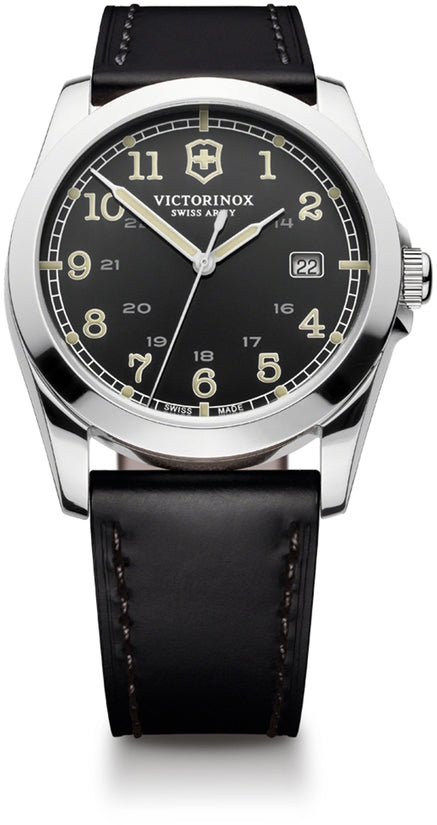 Infantry Dark Gray Dial Black Leather