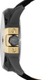 Uber Chief Black Leather Gold Tone Side