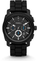 Machine Chronograph Black Silicone