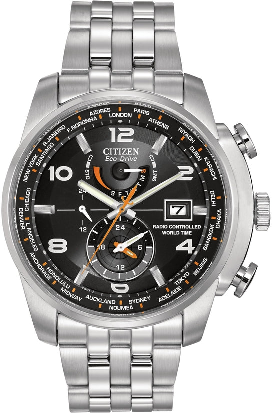 Chronograph World Time A-T Black Dial