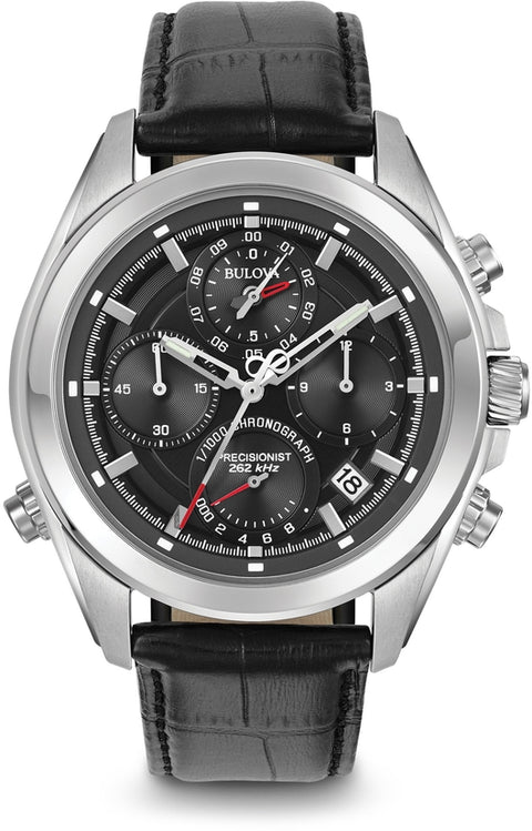 Precisionist Chronograph Black Dial & Leather