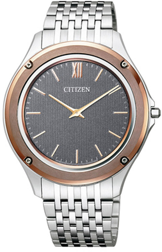 Eco-Drive One World's Thinnest Gray Dial