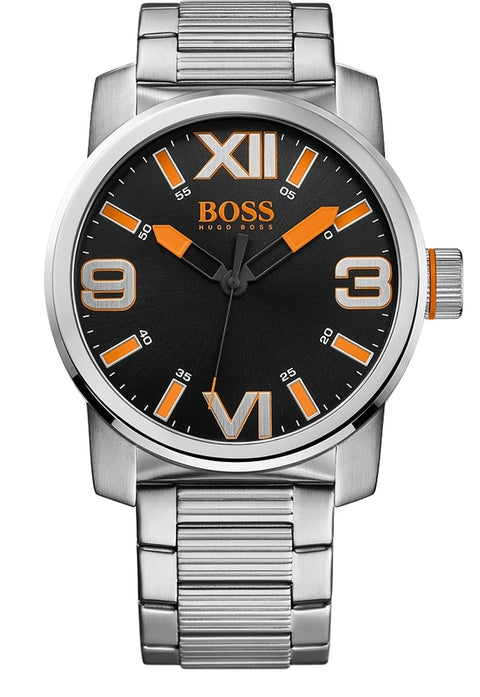 Dubai Men's Stainless Steel Black Dial