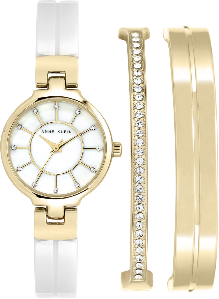 Women's Bangle Mother of Pearl Dial