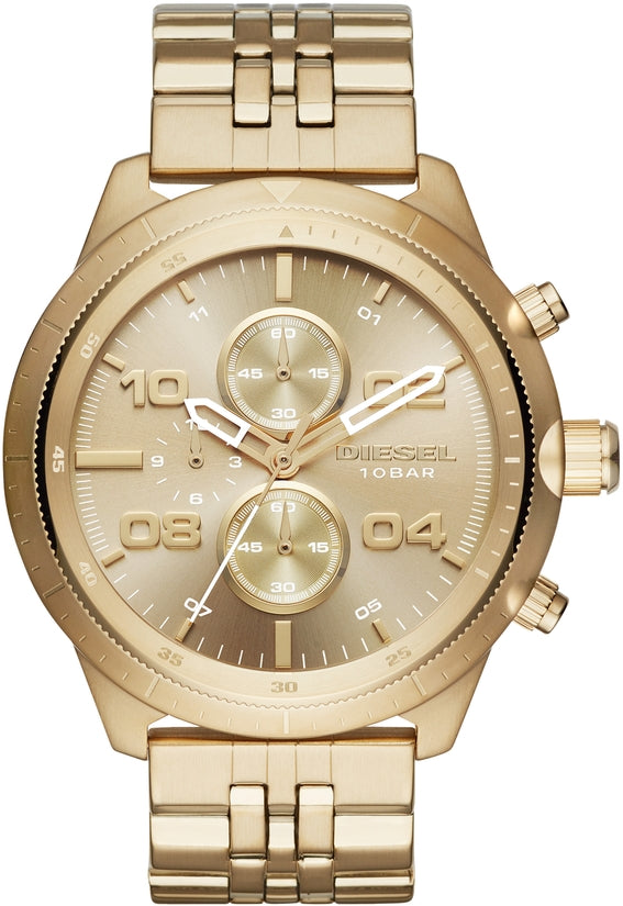 Padlock Chronograph Gold Tone Stainless Steel