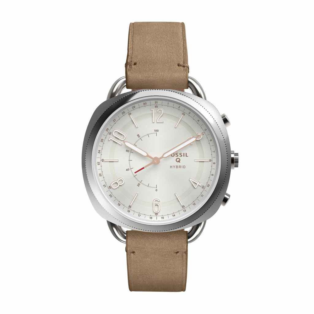 Q Accomplice Hybrid Leather Smartwatch