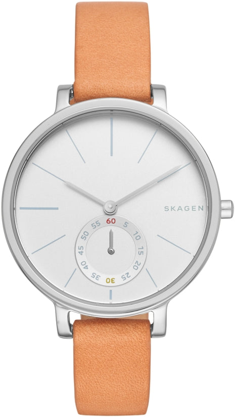 Hagen Brown Leather White Dial