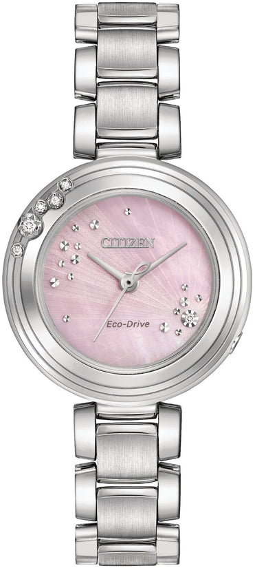 Citizen L Carina Diamond Accented Silver Tone
