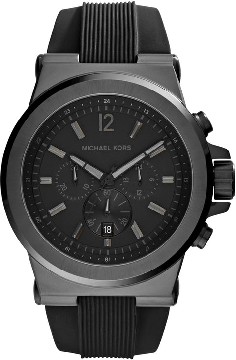 Dylan Chronograph Black Silicone Strap