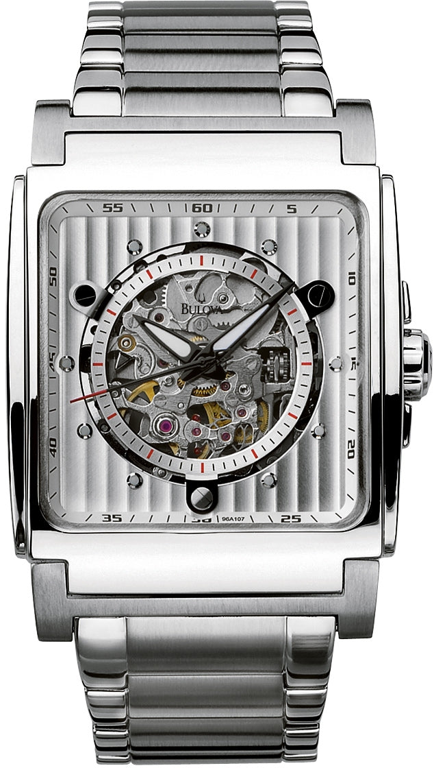 Automatic Skeleton Dial Stainless Steel Mens Watch 96A107