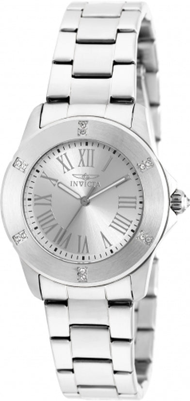 Angel Women's Stainless Steel Silver Dial
