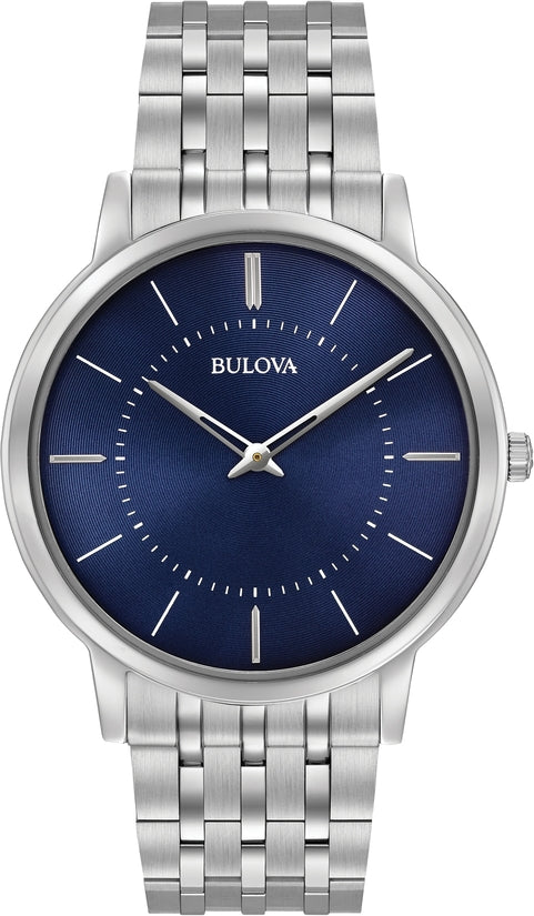 Classic Blue Dial Silver Tone