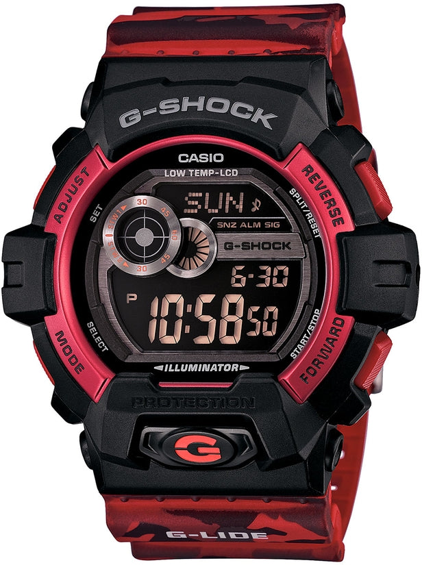 G-Lide Black Dial Red Camo Resin