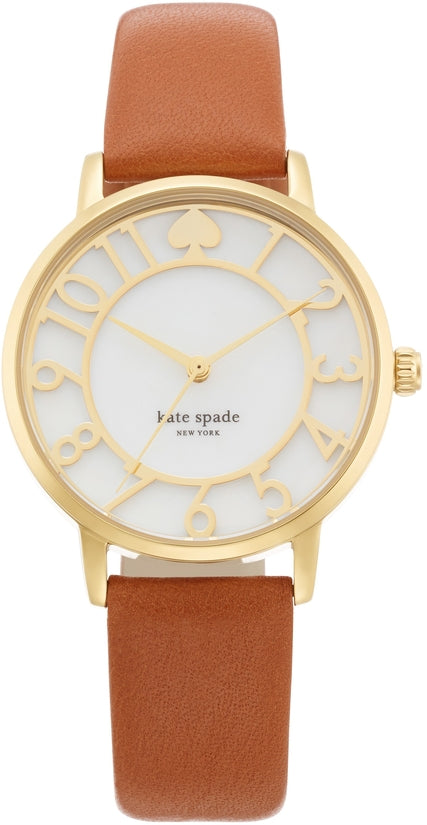 Gramercy Brown Leather Gold Tone Dial