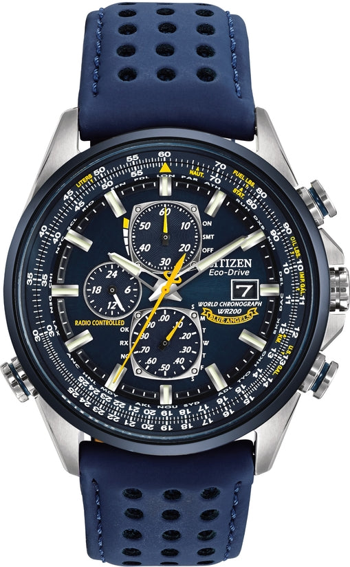 Blue Angels World Chronograph A-T Blue Leather