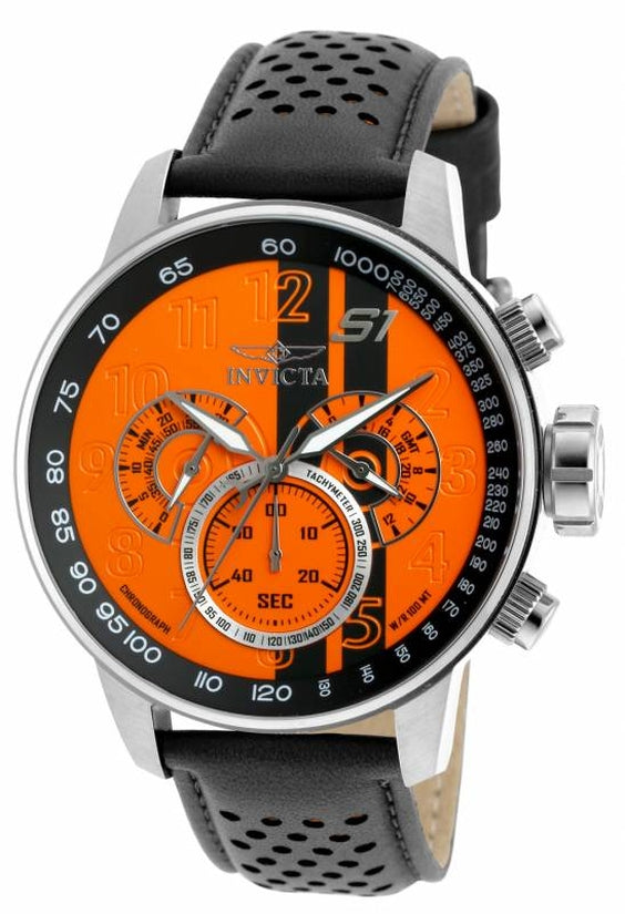S1 Rally Men's Leather Orange Dial