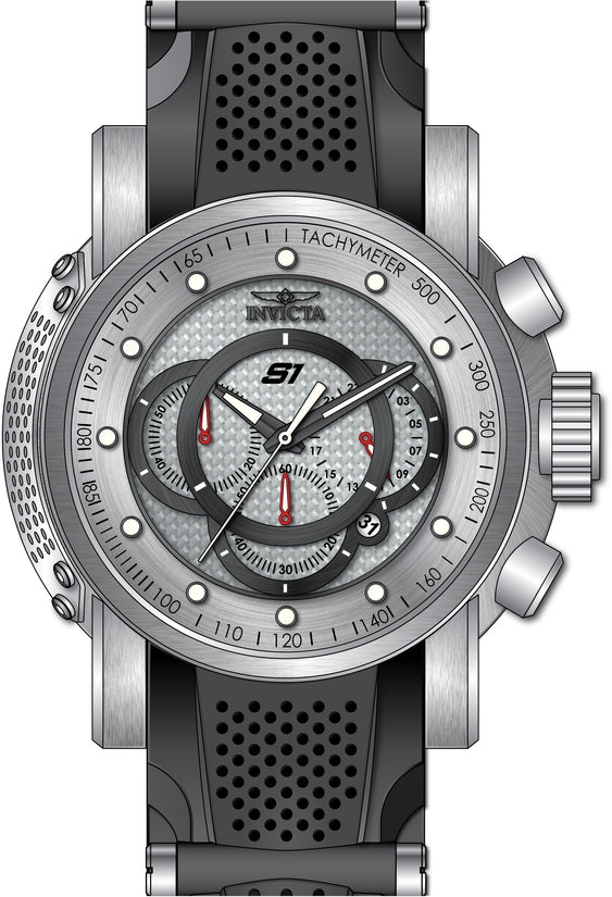 S1 Rally Men's Polyurethane/Stainless Steel Silver Dial