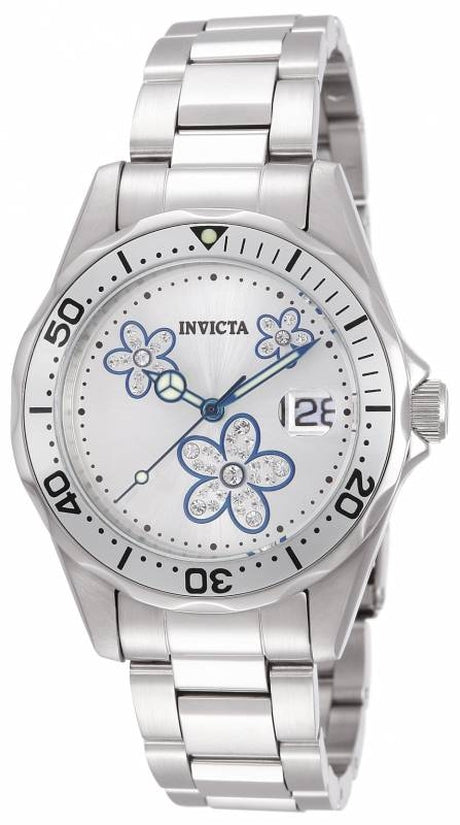 Pro Diver Women's Stainless Steel White Dial
