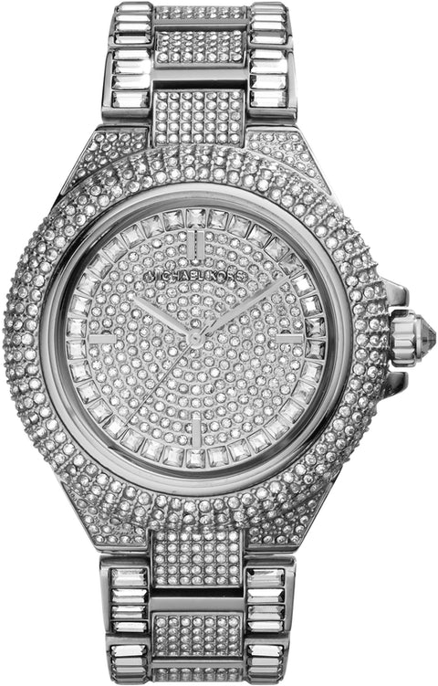 Camille Crystal Accented Silver Tone