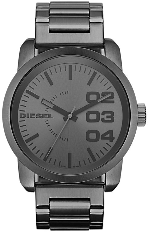 DZ1558 Double Down Grey Dial Stainless Steel Strap Men's Watch
