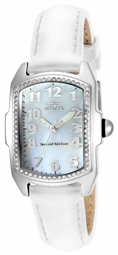 Lupah Women's Leather White Dial