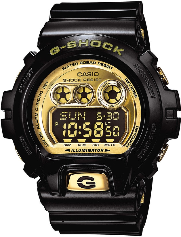 G-Shock Classic Series Digital Gold-Tone Dial Black Resin Strap Men's Watch GDX6900FB-0