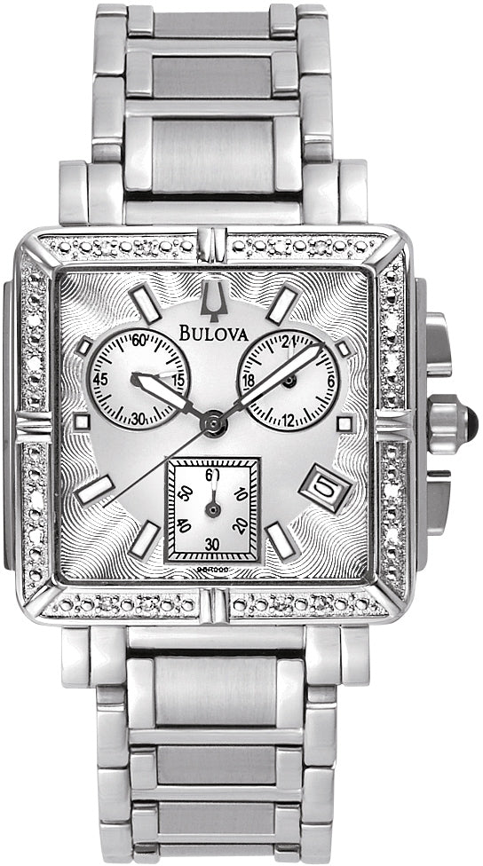 Marine Star Diamond Chronograph Square Womens Watch 96R000