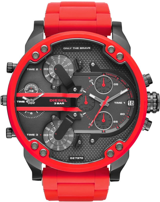 Mr Daddy 2.0 Chronograph Red Silicone and SS Band