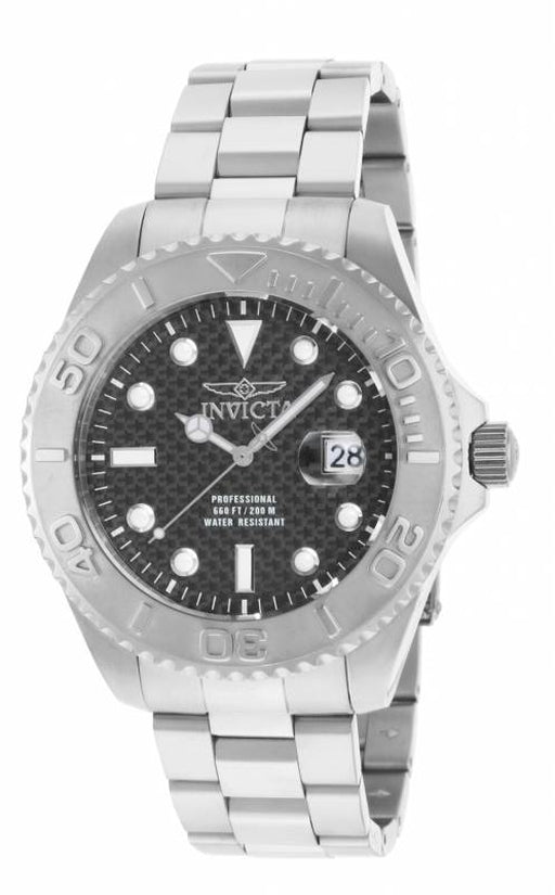 Pro Diver Men's Stainless Steel Black Dial