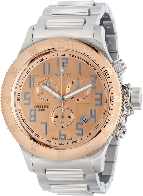 Russian Diver Men's Stainless Steel Rose Gold Dial