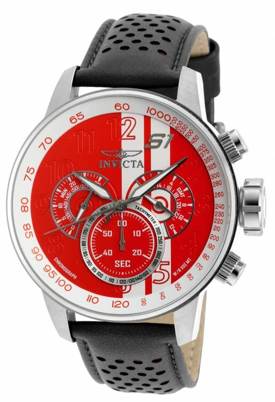 S1 Rally Men's Leather Red Dial