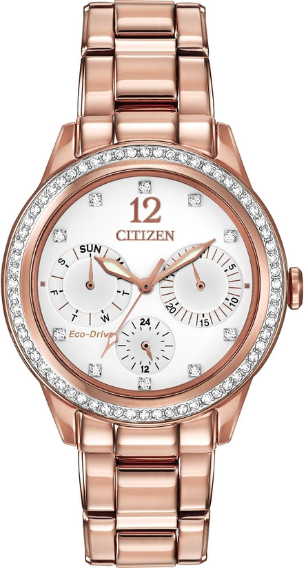 Silhouette Crystal Multifunction Rose Gold Tone