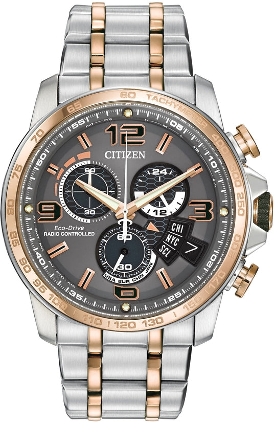 Chrono-Time A-T Silver & Rose Tone