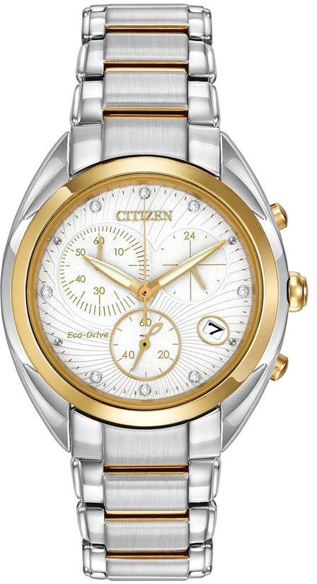 Celestial Chronograph 8 Diamonds Two Tone