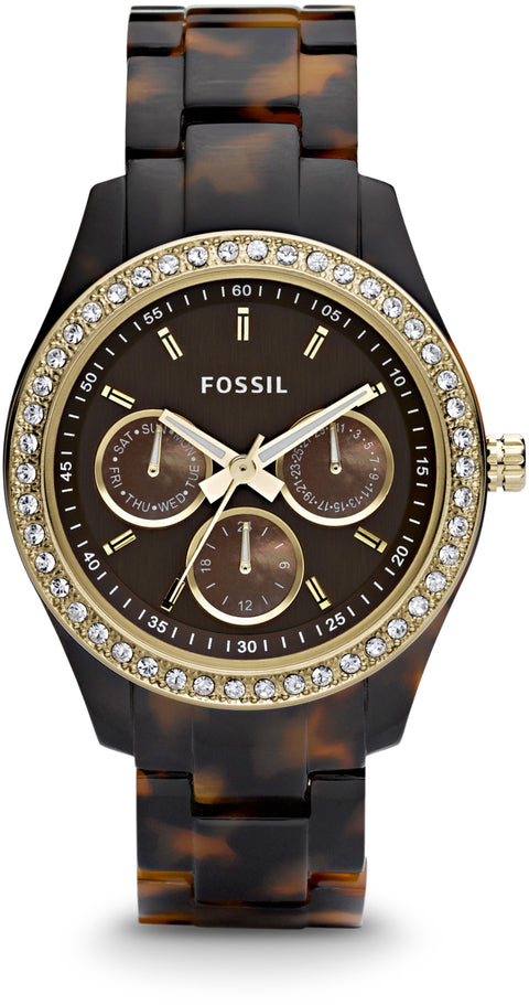 ES2795 Stella Multifunction Brown Dial Resin Strap Women's Watch