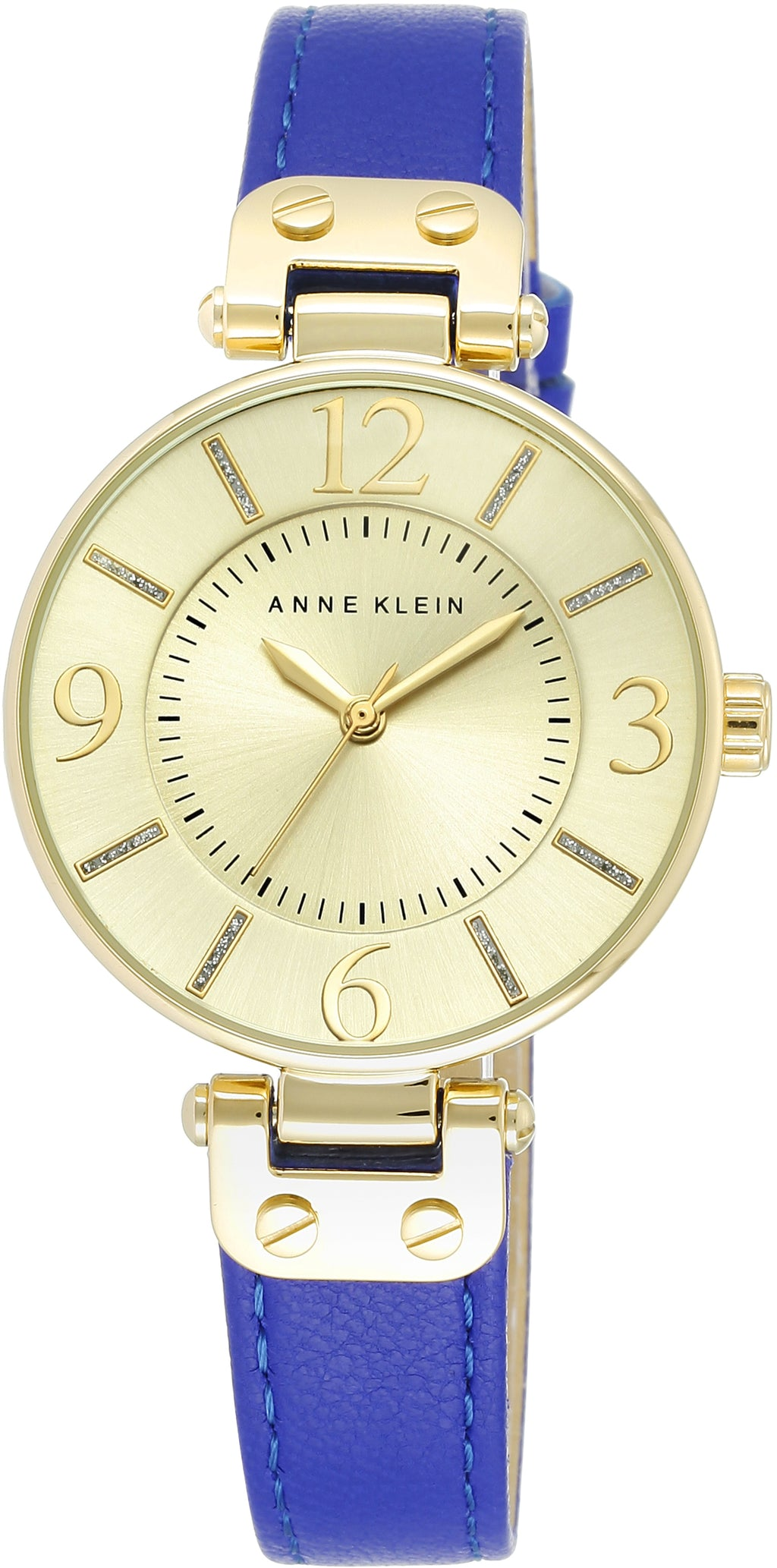 Women's Genuine Leather Gold Dial