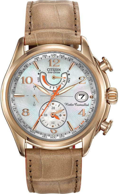 World Time A-T Beige Leather