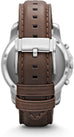 Grant Chronograph Brown Leather Silver Tone Case